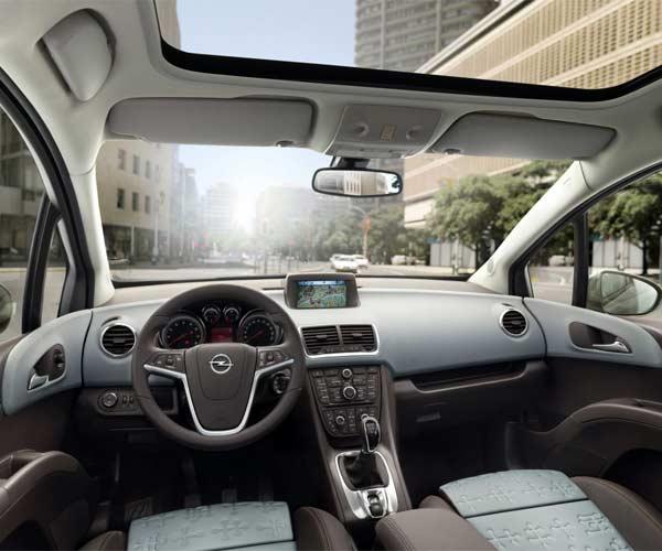 Interior del Opel Meriva